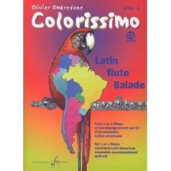 Ombredane, Olivier: Colorissimo Band 2 (+CD) : für 1-2 Flöten Latin-Ensemble als CD-Begleitung