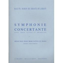 Droste-H├╝lshoff, Max Fr.Baron von: Symphonie concertante pour 3 flutes et orchestre : pour 3 flutes et piano parties