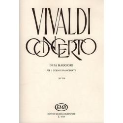 Vivaldi, Antonio: Konzert F-Dur RV538 : f├╝r 2 H├Ârner und Klavier Stimmen