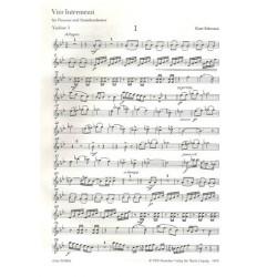 Schwaen, Kurt: 4 Intermezzi : f├╝r Posaune und Streichorchester Violine 1