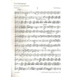 Schwaen, Kurt: 4 Intermezzi : f├╝r Posaune und Streichorchester Violine 2