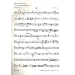 Schwaen, Kurt: 4 Intermezzi : f├╝r Posaune und Streichorchester Kontrabass