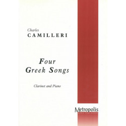 Camilleri, Charles: 4 Greek Songs : for clarinet and piano (1951/77)