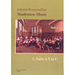 Rosenmüller, Johann: Studenten-Music Band 2 (Nr.8-15) - Suite C-Dur Nr.1 à 5 : für 5 Violen und Bc Partitur