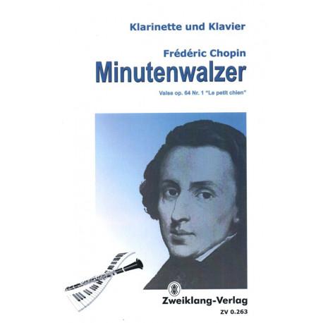 Chopin, Frédéric: Minutenwalzer für Klarinette und Klavier