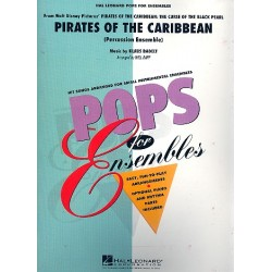 Badelt, Klaus: Pirates of the Caribbean : for percussion ensemble score+parts