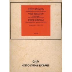 4 Sonaten : f├╝r Cymbal mit Bc- Begleitung