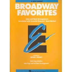 Broadway Favorites : for alto clarinet Solos and band arrangements