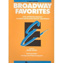Broadway Favorites : for bass clarinet Solos and band arrangements