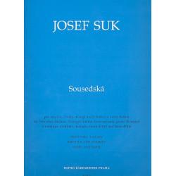 Suk, Josef: Sousedská : für Streicher, Becken, Triangel, kleine u. große Trommel, Partitur+Stimmen