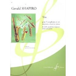 Shapiro, Gerald: Trio : für 2 Saxophone in B und Klavier Stimmen