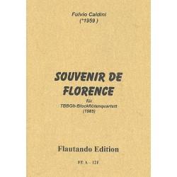 Caldini, Fulvio: Souvenir de Florence : für 4 Blockflöten (TBBGb) 2 Spielpartituren