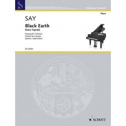 Say, Fazil: ED22494 Black Earth op.8b für 2 Klaviere Spielpartitur