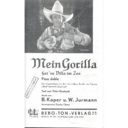 Kaper, Bronislaw: Mein Gorilla hat ne Villa im Zoo : f├╝r Salonorchester Partitur und Stimmen