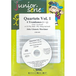 Quartets vol.1 (+CD) for 4 trombones and piano (keyboard) score and parts