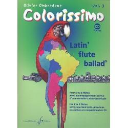 Ombredane, Olivier: Colorissimo Band 3 (+CD) : für 1-2 Flöten Latin-Ensemble als CD-Begleitung