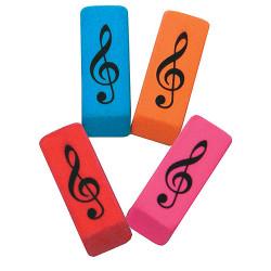 Radiergummi Violinschlüssel, farbig sortiert (1 St.)