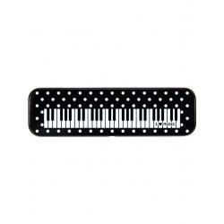 Stifte-Box Tastatur schwarz mit weißen Punkten