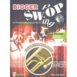 Gorp, Fons van: Bigger Swing Pop (+CD) : für Posaune (Euphonium) Violinschlüssel und Bassschlüssel