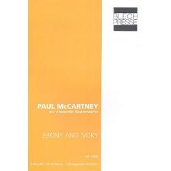 McCartney, Paul: Ebony and Ivory : für 2 Euphonien, Tuba in F und Tuba in B Partitur und Stimmen