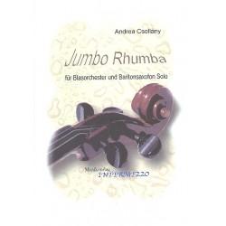 Csollány, Andrea: Jumbo Rhumba : für Baritonsaxophon und Blasorchester Partitur und Stimmen