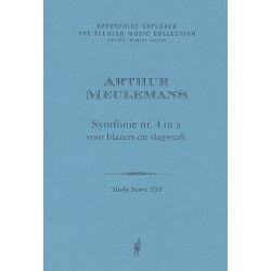 Meulemans, Arthur: Sinfonie a-Moll Nr.4 für Bläser und Schlagwerk Studienpartitur
