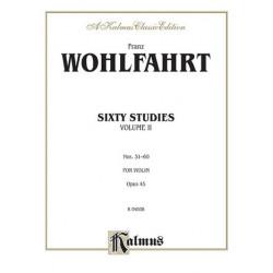 Wohlfahrt 60 Studies Op.45/2 for violin Kalmus Classic Series