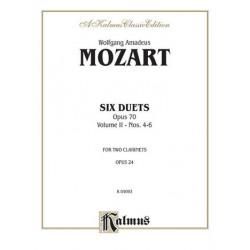 Mozart 6 Duets 2 Clar. Vol.2 (4-6) for clarinet Kalmus Classic Series