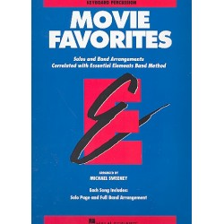 Movie Favorites : for band keyboard / percussion