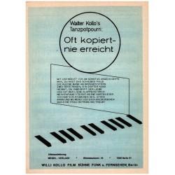 Oft kopiert nie erreicht : Tanzpotopourri für Klavier mit Text