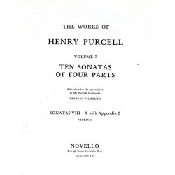 Purcell, Henry: 10 Sonatas of 4 Parts (nos.8-10) : for strings violin 1