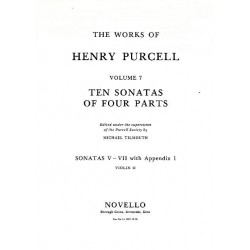 Purcell, Henry: 10 Sonatas of 4 Parts (nos.5-7) : for strings violin 2