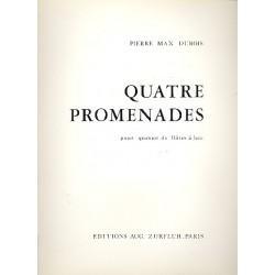 Dubois, Pierre Max: 4 Promenades : pour quatuor de flûtes à bec partition