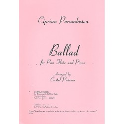 Porumbescu, Ciprian: Ballad : for pan flute and piano