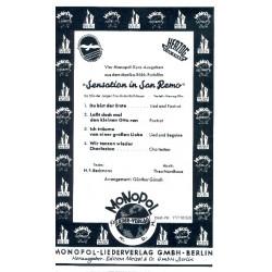 Nordhaus, Theo: Sensation in San Remo (Auswahl) : f├╝r Salonorchester Direktion und Stimmen