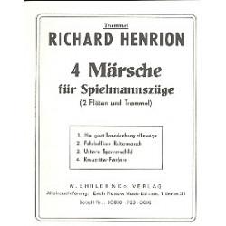 Henrion, Richard: 4 Märsche für Spielmannszüge : Trommel/Spiel.