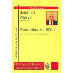 Weber, Reinhold: Pantomime WebWV226 für 2 Flöten, 2 Oboen, 2 Klarinetten und Fagott Partitur und Stimmen