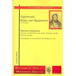 Neukomm, Sigismund Ritter von: Marche religieuse : f├╝r Horn (F/B/Jagdhorn) und Streichorchester (2 Oboen ad lib) Partitur und