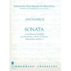 Anonymus: Sonate g-Moll : für Mandoline und Bc (Bc ausgesetzt)
