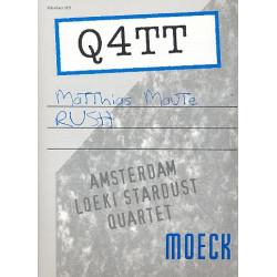 Maute, Matthias: Rush : für 4 Altblockflöten Partitur und Stimmen