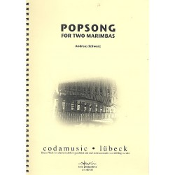 Schwarz, Andreas: Popsong : for 2 Marimbas score and parts