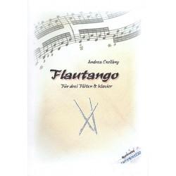 Csoll├íny, Andrea: Flautango : f├╝r 3 Fl├Âten und Klavier Partitur und Stimmen