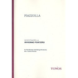 Piazzolla, Astor: Invierno porteno : for bandoneon and string orchestra score