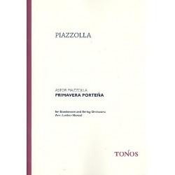 Piazzolla, Astor: Primavera porteno : für Bandoneon und Streichorchester Partitur