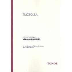Piazzolla, Astor: Verano Porteno : für Bandoneon und Streichorchester Partitur