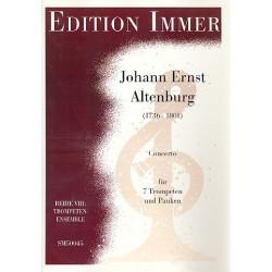 Altenburg, Johann Ernst: Concerto für 7 Trompeten und Pauke Partitur und Stimmen