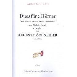 Carafa, Michele: Duos über Motive aus der Oper Masaniello : für 2 Hörner Partitur