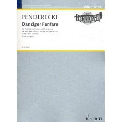 Penderecki, Krzysztof: Danziger Fanfare : für Blechbläser Pauken und Schlagzeug Partitur und Stimmen