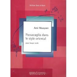 Maayani, Ami (Ma'Ayani): Passacaglia dans le style oriental : pour harpe