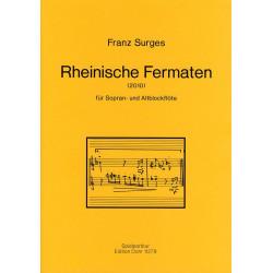 Surges, Franz: Rheinische Fermaten : für 2 Blockflöten Spielpartitur